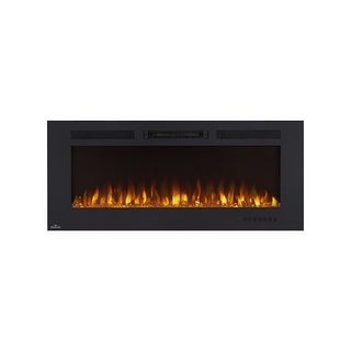 "Napoleon NEFL50FH  5000 BTU 50"" Wide Wall Mounted Electric Fireplace with Remote Control from the Allure Collection - Black"