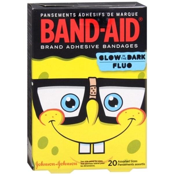 BAND-AID Bandages SpongeBob SquarePants Assorted Sizes 20 Each