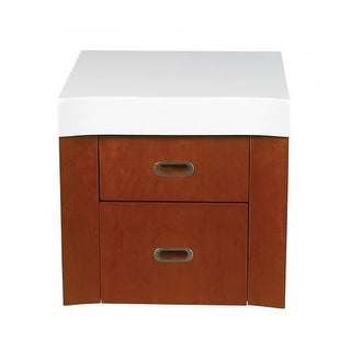 "DecoLav 5605-4 18"" Casaya Double Drawer with Top for use with 5605-1 Vanity"
