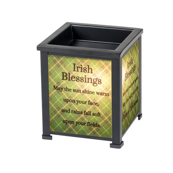 """5"""" Green and Gray Irish Blessings God Hold You Interchangeable Warmer - N/A"""