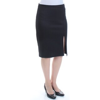 Womens Black Below The Knee Pencil Wear To Work Skirt Juniors Size 7