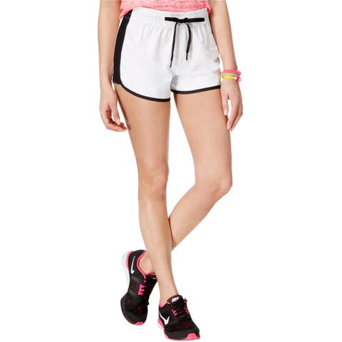 Material Girl Womens Contrast-Trim Athletic Workout Shorts
