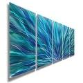 Statements2000 Blue Contemporary Metal Wall Art Painting by Jon Allen - Blue Aurora - Thumbnail 0