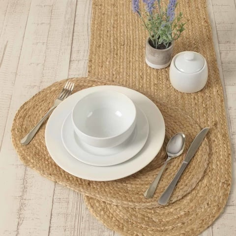 Natural Jute Placemat Set of 6 12x18 - Placemat 12x18