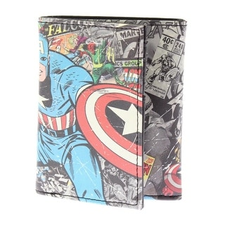 Marvel Mens Captain America Faux Leather Graphic Trifold Wallet