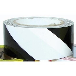 "2"" x 36 Yards Vinyl Tape - Black/White Striped"