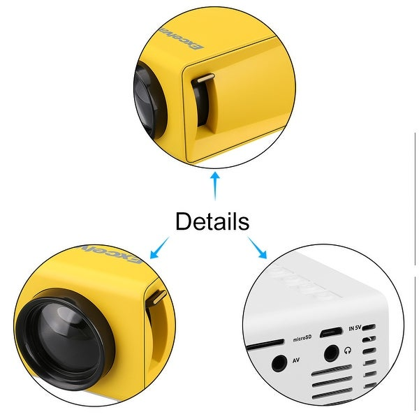 YG300 Home projector 320*240p Support 1080p AV //USB //SD card// HDMI interface