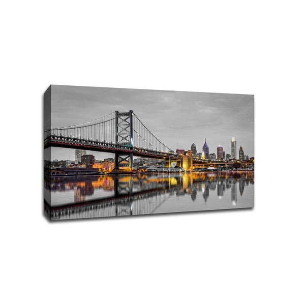 Philadelphia - Touch of Color Skylines - 36x24 Gallery Wrapped Canvas ToC