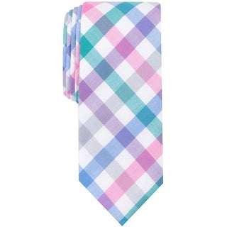 bar III Mens Bold Color Self-tied Necktie, pink, One Size - One Size