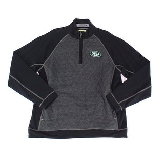 Tommy Bahama NEW Black Mens Size Large L 1/2 Zip Two Tone Sweater
