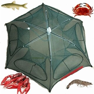 Fishing Bait Trap Crab Net Crawfish Shrimp Cast Dip Fish Minnow