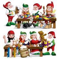 "Club Pack of 24  Santa's Christmas Workshop Props 31.5"" x 63.5"" - multi"