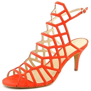 Vince Camuto Paxton Women Open Toe Leather Orange Sandals