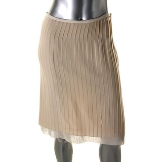Catherine Malandrino Womens Twill Mesh Trim A-Line Skirt - 4