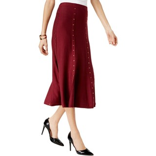 NY Collection Womens A-Line Skirt Sweater Studded (2 options available)