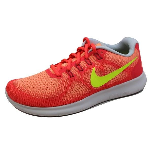 Nike Women's Free RN 2017 Sunset Glow/Volt-Hot Punch 880840-800