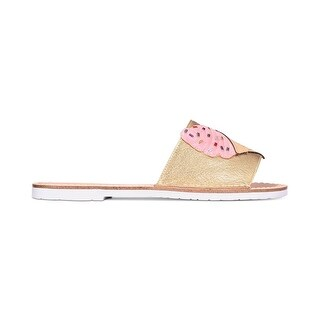 Kate Spade New York Womens icey Leather Open Toe Casual Slide Sandals