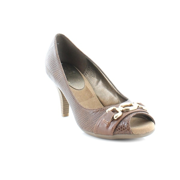Aerosoles Good Lux Women's Heels DK Tan Snake