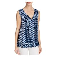 Beach Lunch Lounge Womens Sophie Casual Top Printed Sleeveless