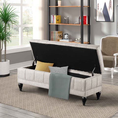 TiramisuBest Unique Upholstered Storage Bench