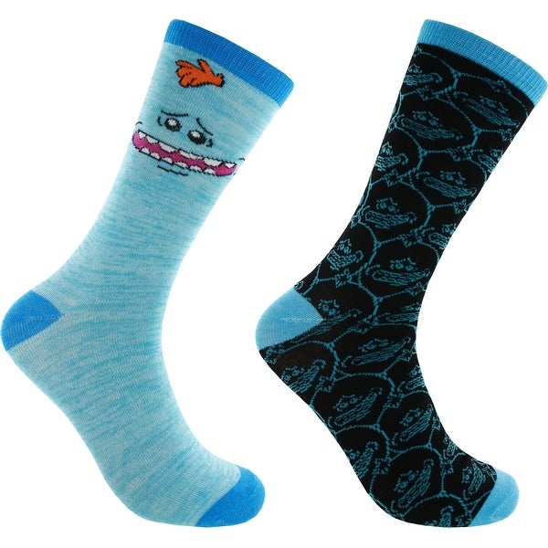 Rick and Morty Meeseeks 2-Pack Casual Crew Socks, 6-12
