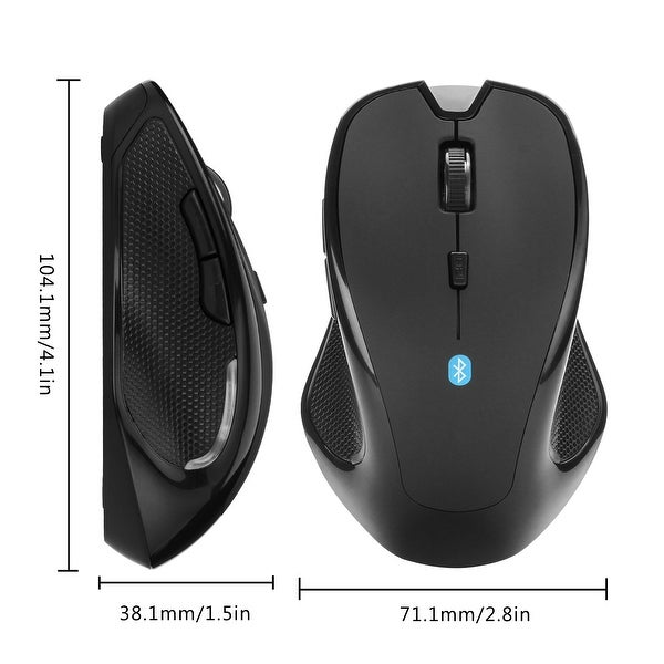 Bluetooth Wireless Mouse Optical 2400DPI Mice for Macbook Android PC Laptop
