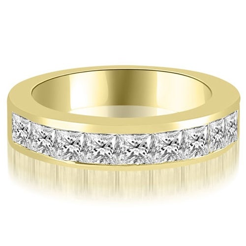 1.26 cttw. 14K Yellow Gold Princess Diamond 9-Stone Channel Wedding Band