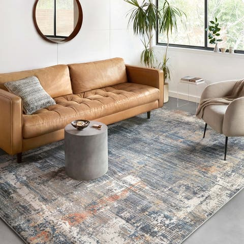 Alexander Home Glacier Modern Abstract Area Rug