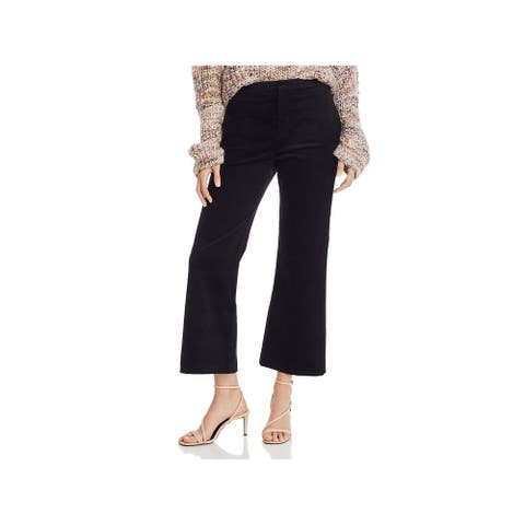 JOIE Womens Black Textured Cropped Pants Size 2
