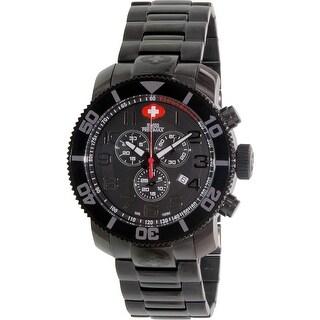 Swiss Precimax Men's Verto Pro Black Stainless-Steel Sport Watch