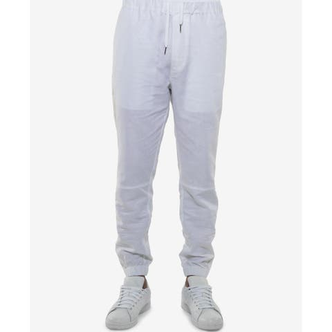 Sean John Mens Side Stripe Linen Jogging Pants