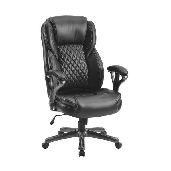 Shop Home Office Big And Tall Pu Leather Office Chair Black Overstock 31917617