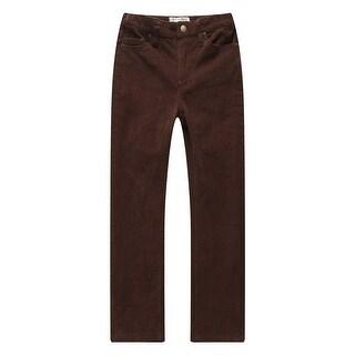 Richie House Little Boys Chocolate Elastic Waistband Corduroy Pants 3-7