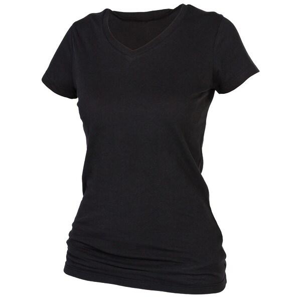 Boxercraft Women's Plus Size Cotton V Neck Tee