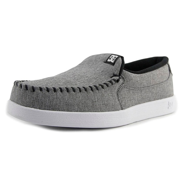 DC Shoes Villain TX Men Moc Toe Canvas Gray Loafer