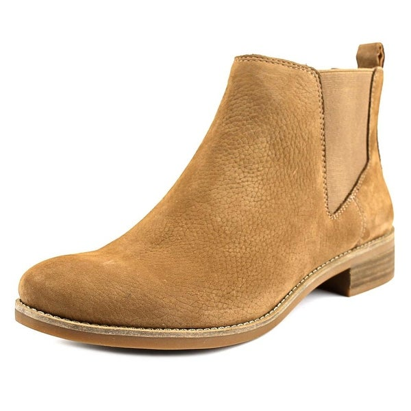 Lucky Brand Noahh Women Round Toe Leather Tan Ankle Boot