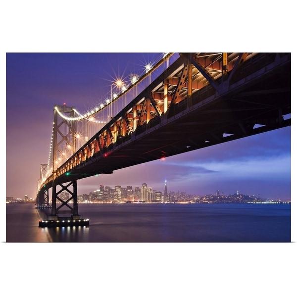 """""""San Francisco Bay bridge."""" Poster Print"""