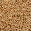 Toho Round Seed Beads 15/0 123D 'Opaque Lustered Dark Beige' 8g - Thumbnail 0