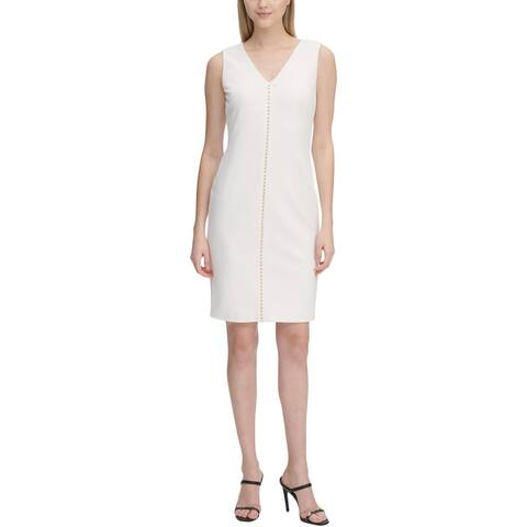 Calvin Klein Womens Wear to Work Dress Studden Business