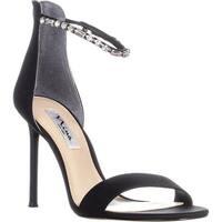 Nina Deena Ankle Strap Stiletto Sandals, Black - 9.5 us