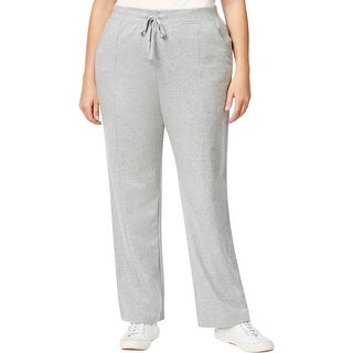 Karen Scott Sports Womens Plus Lounge Pants French Terry Heathered - 2x