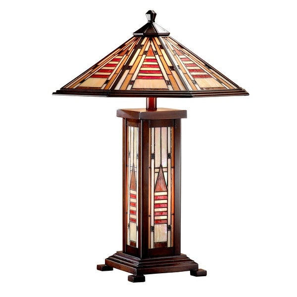 "25"" Tiffany Woodruff Mission Table Top Lamp - N/A"