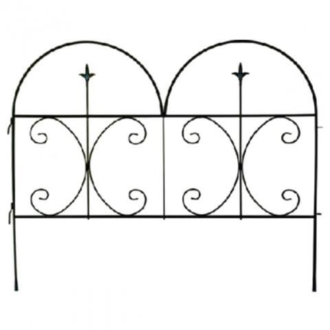 "PanaceaA¢ 87406 Decorative Finial Fence Panel, Black, 30"" x 36"""