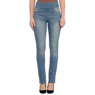 Lola Jeans Rebeccah-MLB, High Rise Pull On Straight Leg With 4-Way Stretch (More options available)