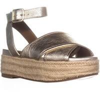 Nine West Showrunner Ankle Strap Sandals, Light Gold