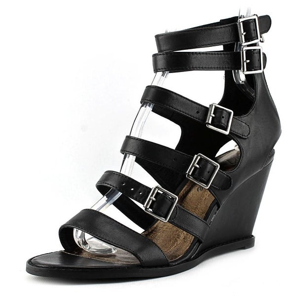 Matisse Honor Open Toe Leather Wedge Sandal