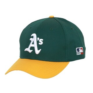 Oakland A's Logo Vintage Adjustable Baseball Cap - Green w/ Gold