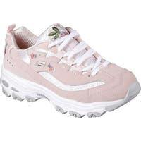 Skechers Women's D'Lites Bright Blossoms Sneaker Light Pink