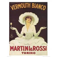 ''Vermouth Bianco'' by Marcello Dudovich Vintage Advertising Art Print (20 x 16 in.)