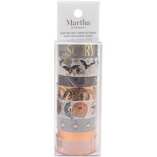 Witching Hour Orange Black White - Martha Stewart Washi Tape 8 Assorted Rolls